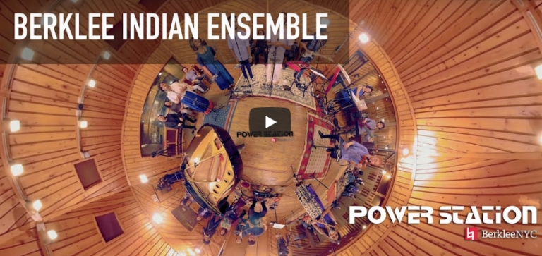 Berklee Indian Ensemble - Unnai Kaanadhu Naan (360 Video from Power Station at BerkleeNYC)